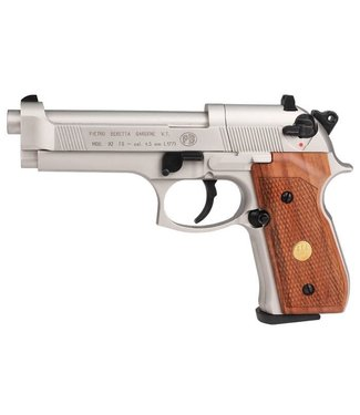Beretta M92FS Nickel w/ Wood Grips