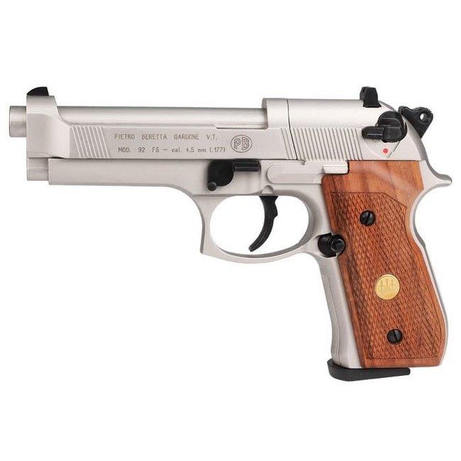 Beretta M92FS Nickel w/ Wood Grips