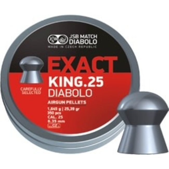 JSB Match Diabolo Exact King .25 Cal, 25.4g - 350ct