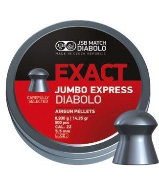 JSB Match Diabolo JSB Match Diabolo Exact Jumbo Express .22 Cal, 14.35gr