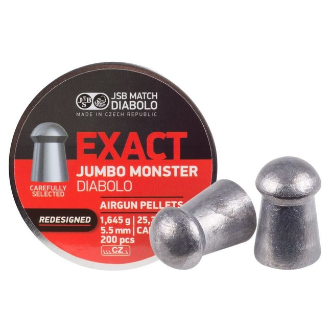 JSB Match Diabolo Redesigned Exact Jumbo Monster .22 cal, 25.39gr