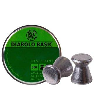 RWS RWS Diabolo Basic .177 Cal, 7.0gr