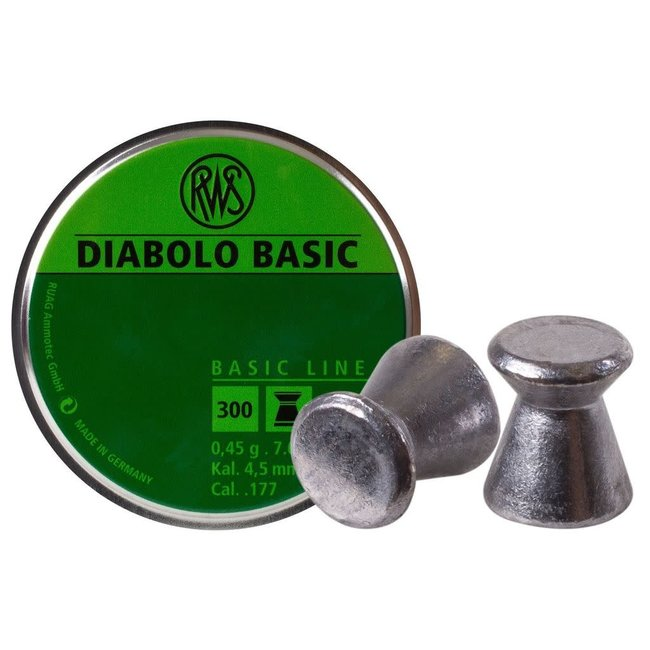 RWS Diabolo Basic .177 Cal, 7.0gr