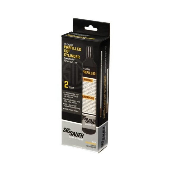Sig Sauer 90g CO2 Cylinders 2-Pack