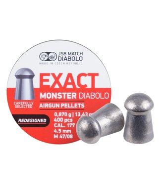 JSB Match Diabolo Exact Redesigned Monster .177 Cal, 13.43gr