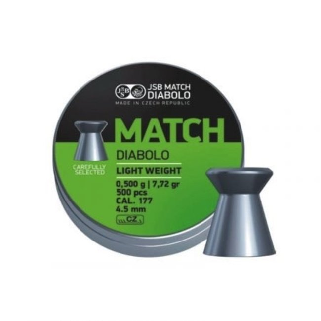 JSB Match Diabolo JSB Green Match Diabolo Light Weight .177 Cal, 7.72gr, 4.48mm