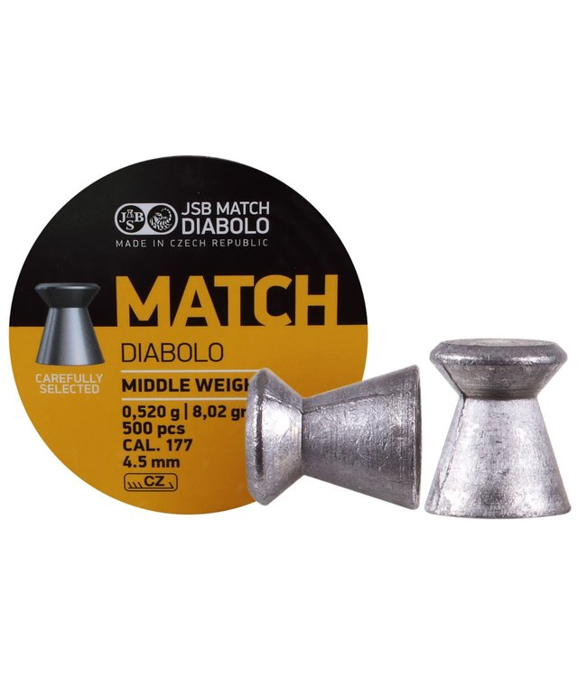 JSB Match Diabolo JSB Yellow Middle Weight .177 Cal, 8.02gr, 4.50mm
