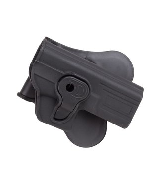 ASG Strike Systems Paddle Polymer Holster for G17, G19, 23, & M-22 Air & Airsoft Pistols, Black