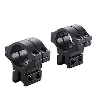 "BKL Technologies 1"" Double Strap Dovetail Rings - Matte Black"