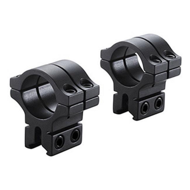 "BKL Technologies BKL 1"" Double Strap Dovetail Rings - Matte Black"