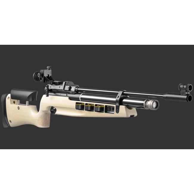 Air Arms Air Arms S400 MPR Biathalon .177 Cal, White Poplar Ambidextrous (495 FPS) Rubber Buttpad