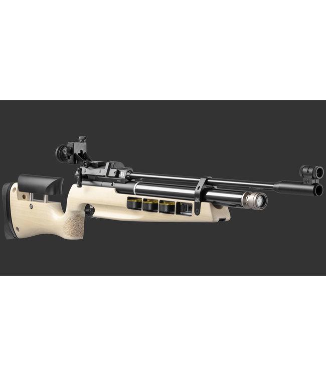 Air Arms S400 MPR Biathalon  177 Cal, White Poplar Ambidextrous (495 FPS)  Metal Buttpad