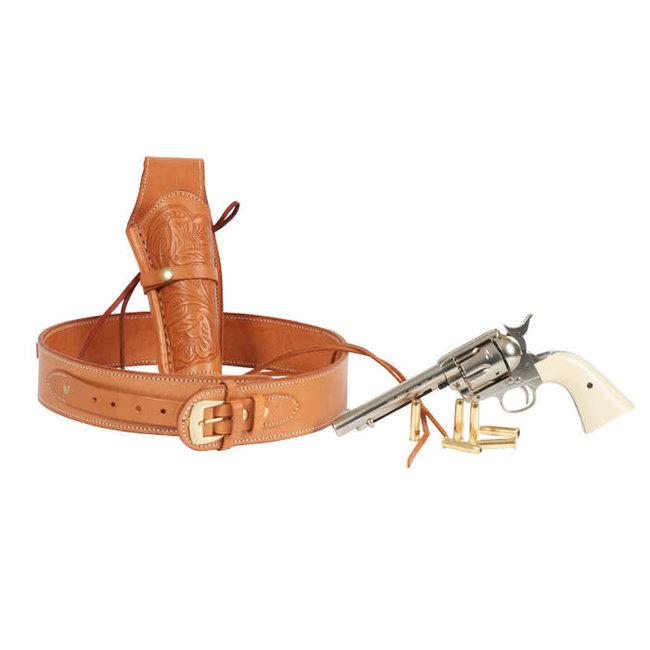 "Western Justice Gun Belt 48""- 52"" Waist - Natural"