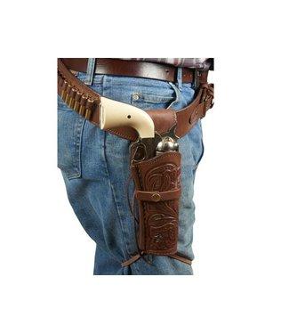 """Western Justice Gun Belt 30""""- 34"""" Waist - Chocolate"""