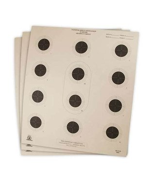 Crosman NRA 10M Air Rifle Target - 100pk