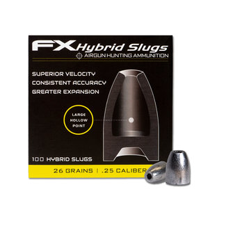 FX Airguns FX Hybrid Slugs .25 Cal - 26gr - 100ct