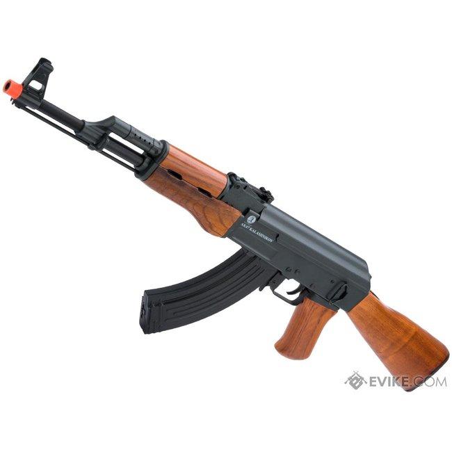 Kalashnikov AK-47 Airsoft AEG Rifle w/ Electric Blowback and Real Wood