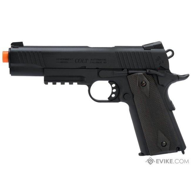 KWC Colt 1911 Tactical Full Metal CO2 Airsoft Gas Blowback Pistol - Black