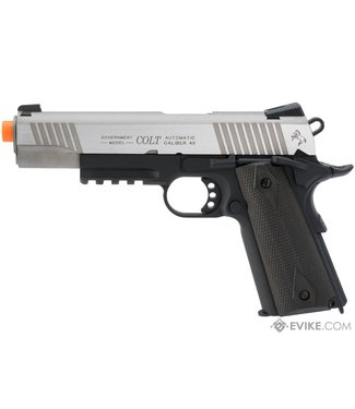KWC Colt 1911 Tactical Full Metal CO2 Airsoft Gas Blowback Pistol - Dual-Tone
