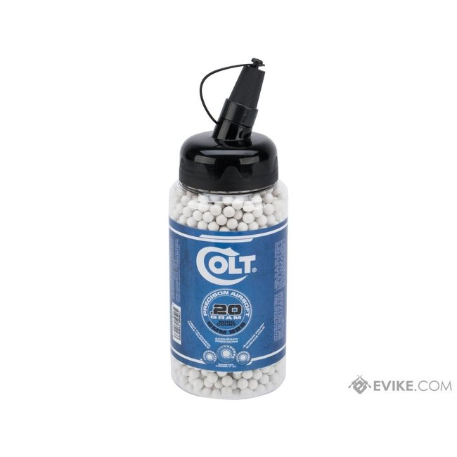 Colt Premium 6mm High Grade Precision Airsoft BBs - .20g - 2000ct - White)