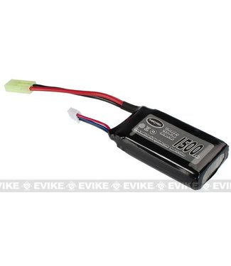 Matrix High Performance 7.4V PEQ Type Airsoft LiPo Battery - 1500mAh / 20C / Small Tamiya)