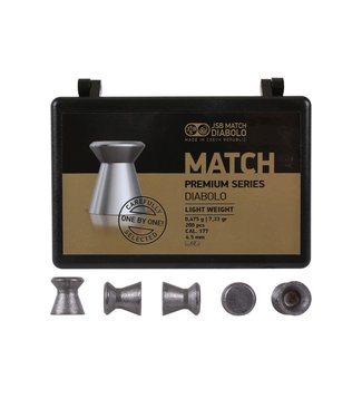 JSB Match Diabolo JSB Match Premium Light .177 Cal, 7.72 Grains, Wadcutter, 200ct