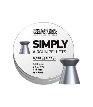 JSB Match Diabolo JSB Simply Pellets .177 Cal - 500ct