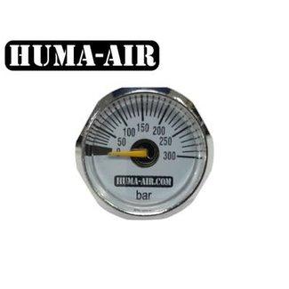 Huma-Air Mini Pressure Gauge - 25mm - 300 BAR