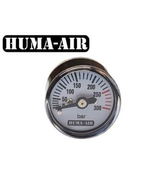 Huma-Air 25mm Round Pressure Gauge - 250 BAR