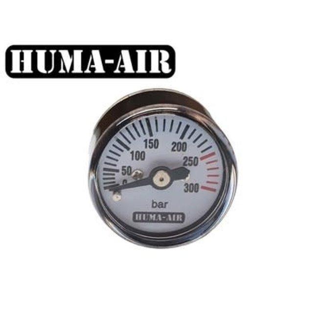 Huma-Air 25mm Round Pressure Gauge - 250 BAR