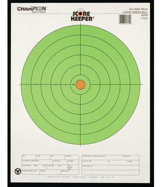 Score Keeper Fluorescent Bull Targets - 12pk