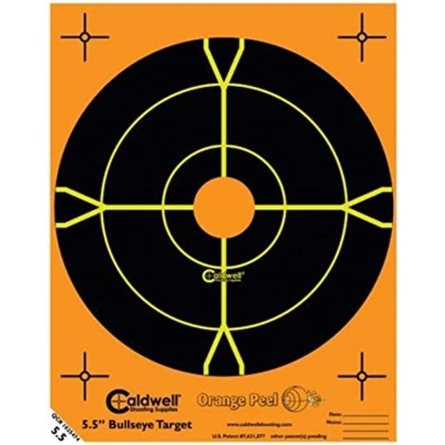 "Caldwell Orange Peel 5.5"" Bulls-Eye Targets - 10pk"