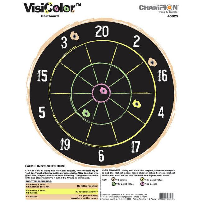 Champion Visicolor Dartboard Target - 10pk