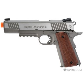 Colt Colt 1911 Tactical Full Metal CO2 Airsoft Gas Blowback Pistol - Stainless Railed