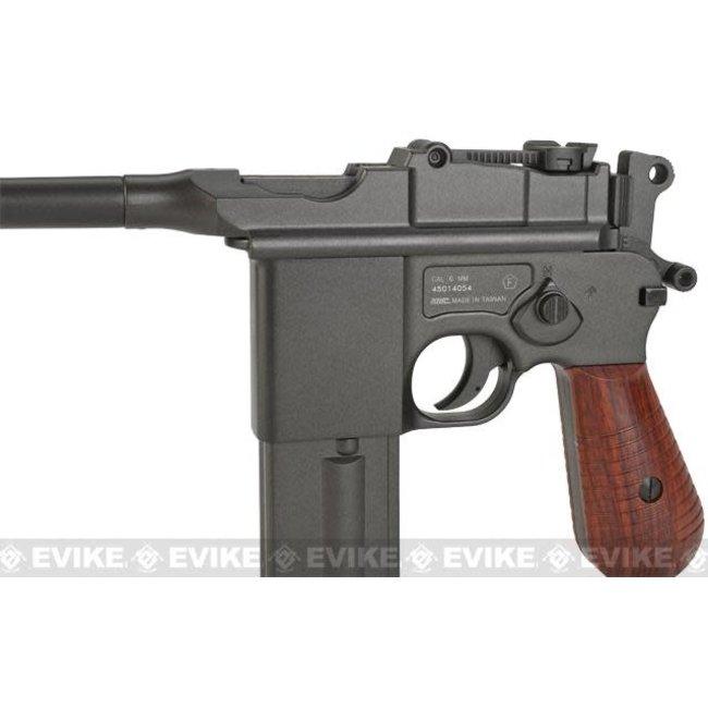 KWC M712 Broomhandle Full-Auto Full Metal Airsoft Co2 Gas Pistol