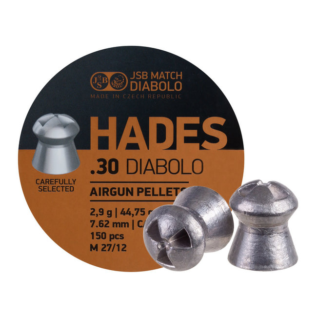 JSB Match Diabolo JSB Hades .30 Cal, 44.75gr - 150ct