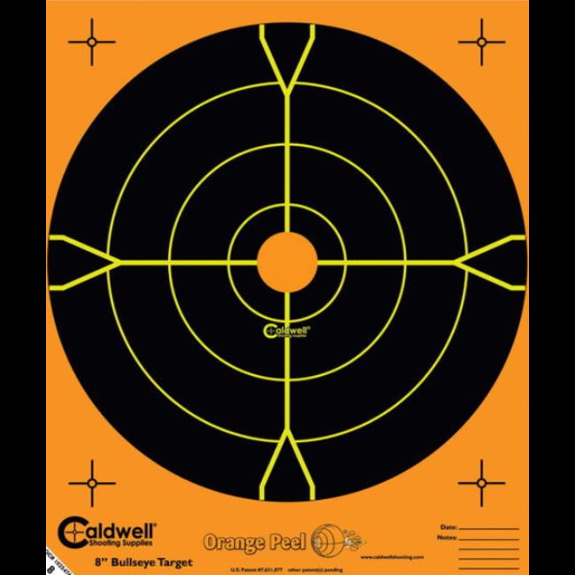 "Caldwell Orange Peel 4"" Bulls-Eye Target - 10pk"