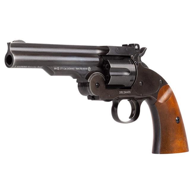 """Schofield No. 3 Aged CO2 BB Revolver - 5"""" Barrel"""