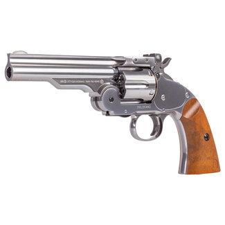 """Barra Schofield No. 3 Nickel CO2 BB Revolver - 5"""" Barrel"""