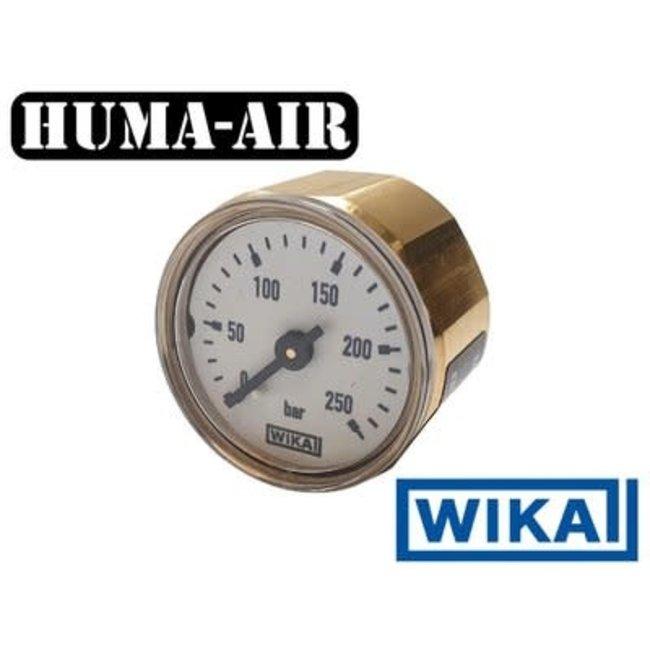 WIKA 28mm Pressure Gauge - 250 BAR - White