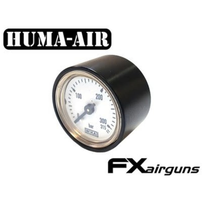 Huma-Air Black Pressure Gauge Cover - 28mm