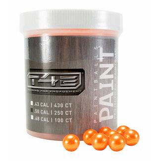 T4E Paintball - Orange - 250 ct .50 Cal