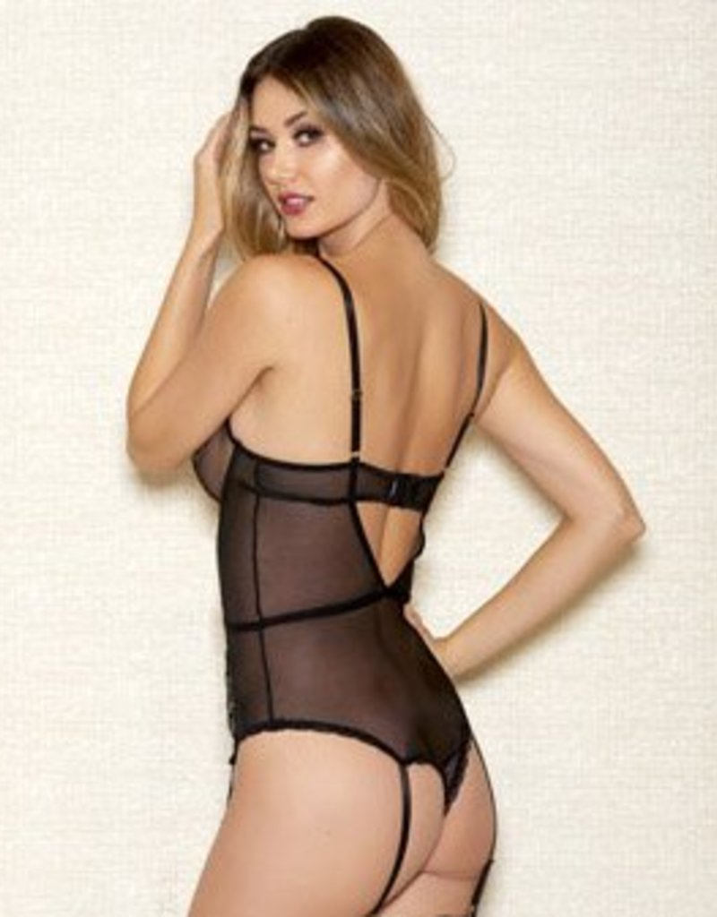 Embroidered Mesh Teddy