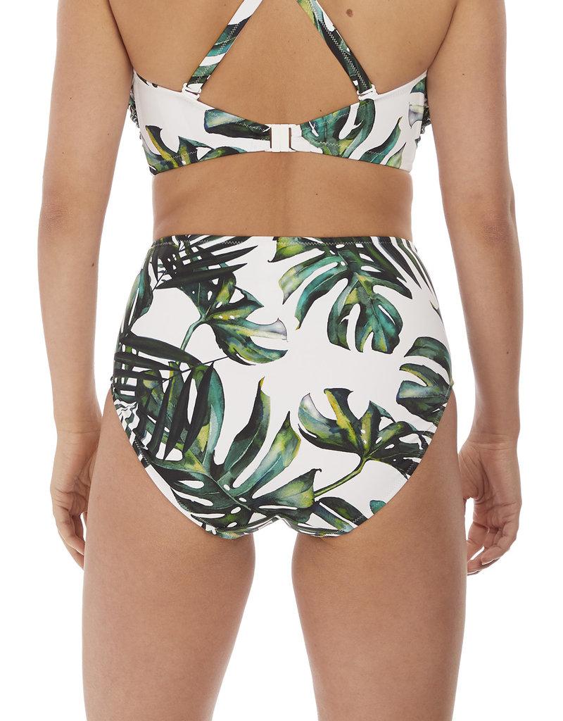 Fantasie Palm Valley High Rise Bikini Brief Fern