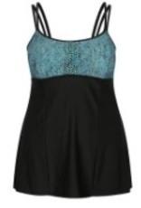 Capriosca Capriosca - Turquoise Snake - Underwire Swim Dress - CTS81008