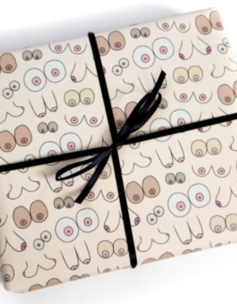 Faire - Unblushing Boob Wrapping Paper - 3 sheets