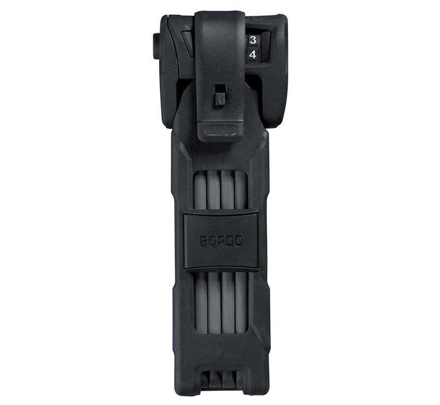 Cadenas pliable avec serrure à combinaison, Bordo Combo 6100,90cm (3'), Noir (PR)