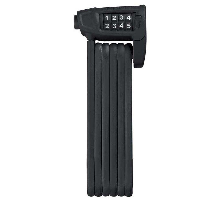 Cadenas pliable avec serrure à combinaison, Bordo Lite 6150, 85cm (2.8'), Noir (PR)