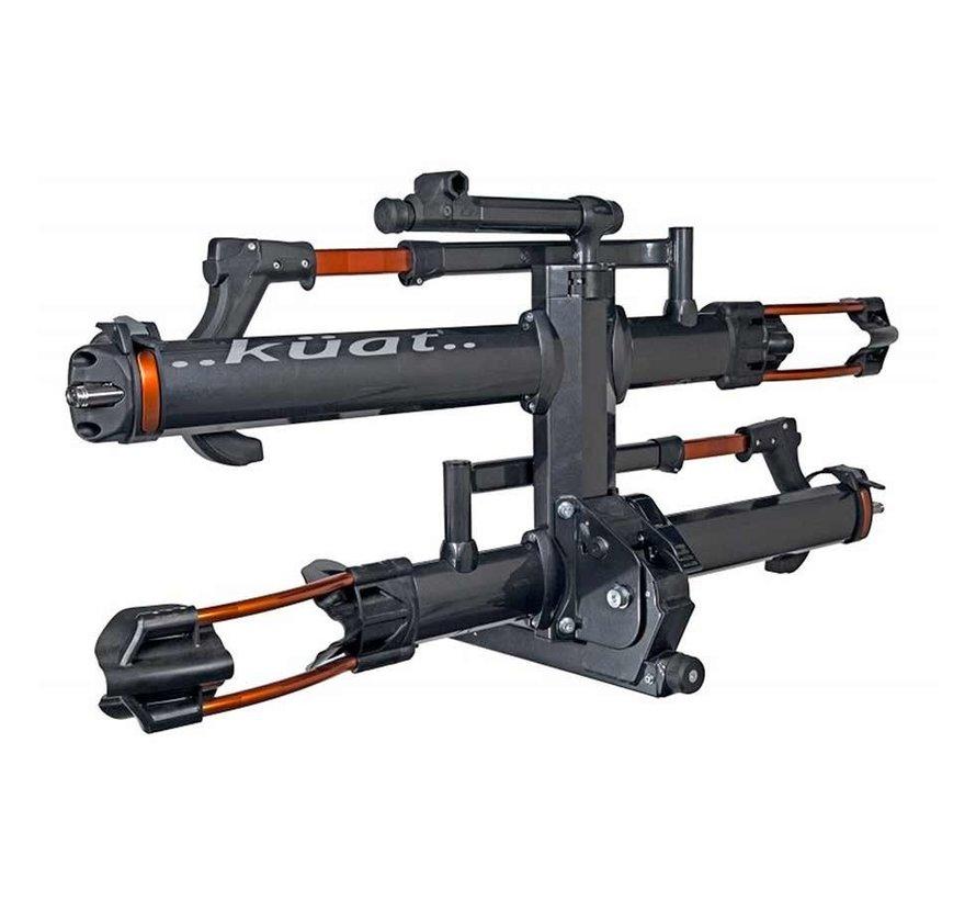 """NV 2.0, Hitch Mounted bike rack, 2 bikes, 2"""", Gun Metal Grey (PR)"""
