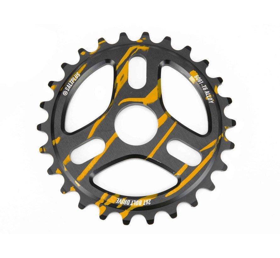 Trident Drip - Plateau de vélo BMX (couleur noir-or)